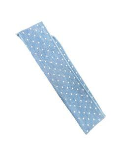 Traka za kosu plava na točkice